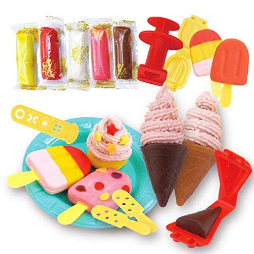 FidgetGear 1 Set DIY Ice Cream Clay Mold Plasticine Pretend Play Educational Toys for Kids from FidgetGear