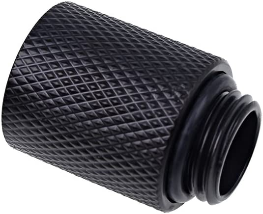Alphacool 17256 Eiszapfen Extension 20mm G1/4 Outer Thread to G1/4 Inner Thread - deep Black Water Cooling Fittings