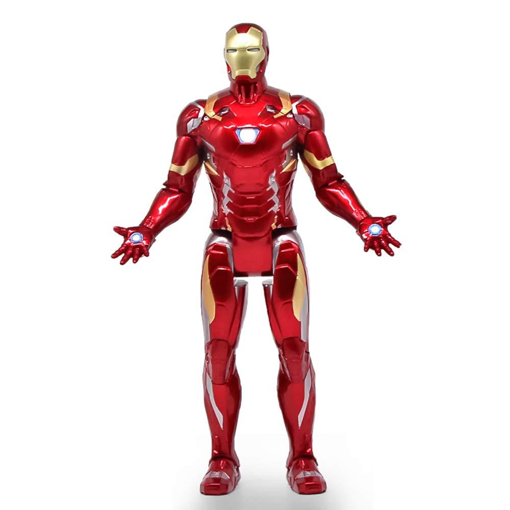 bajo precio GXHLLYZY GXHLLYZY GXHLLYZY Juguete Modelo Iron Man Grande De 18 Pulgadas, Figuras De Acción De Iron Man, Actividad Conjunta De Cuerpo Completo  Brillará  solo cómpralo