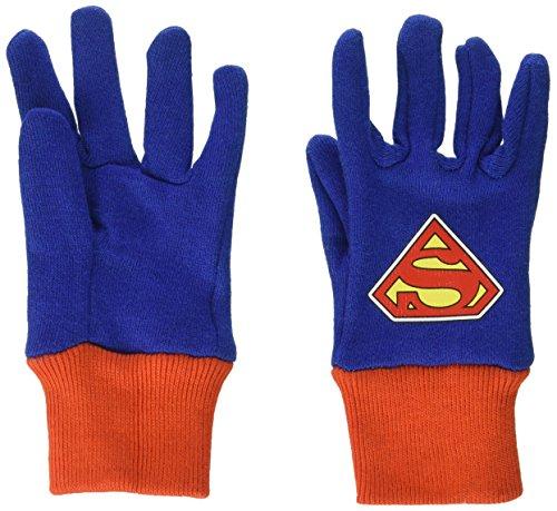Midwest Gloves & Gear SFS102T-T-AZ-6 SFS102T-T-DC-12 Superman Jersey Glove, Toddler, Multicolor