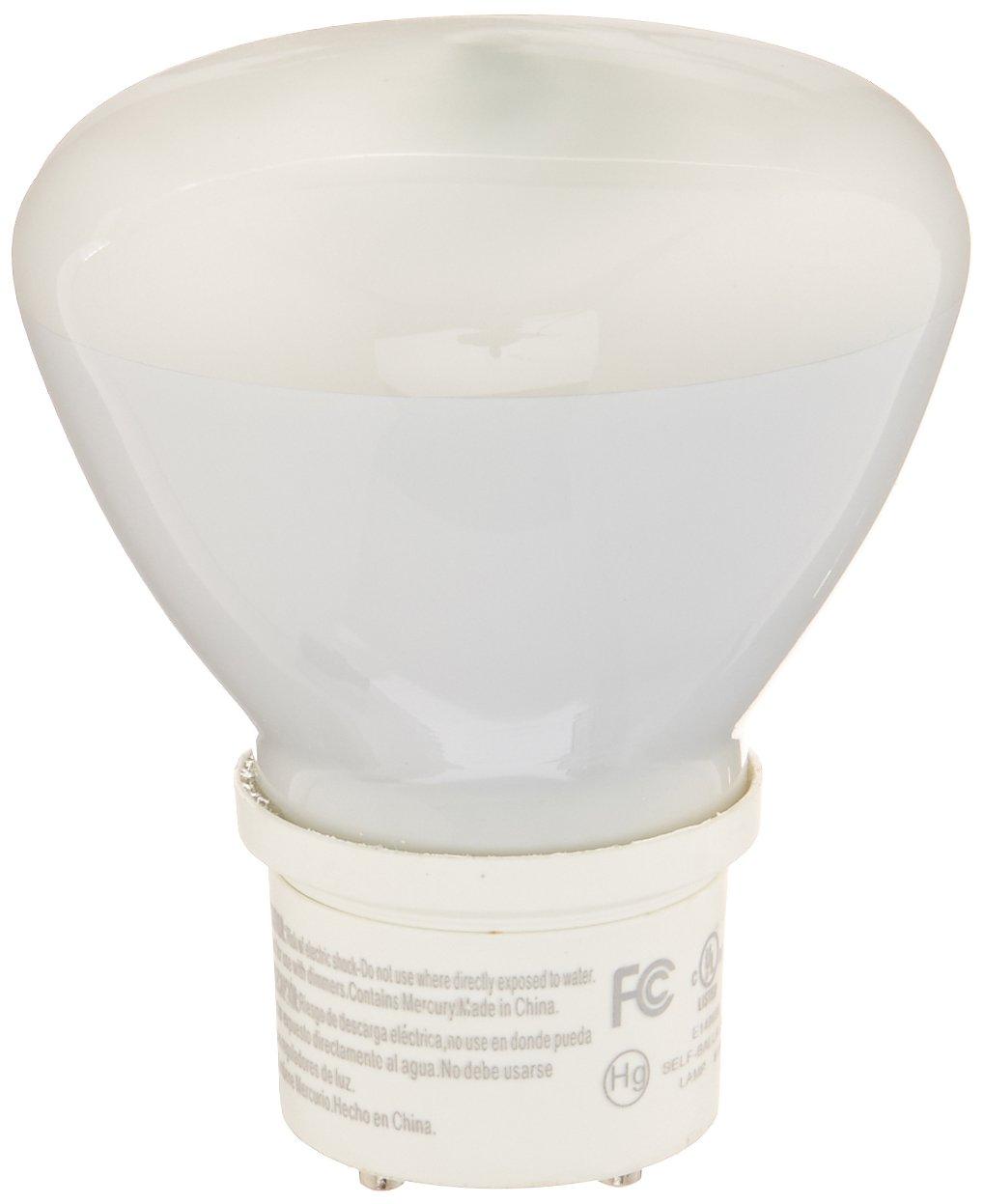 TCP CFL R30, 75W Equivalent, Bright White (3000K) GU24 Base Flood Light Bulb by TCP (Image #1)