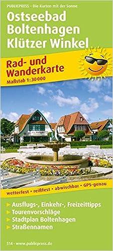 Ostseebad Boltenhagen Karte.Ostseebad Boltenhagen Klützer Winkel Rad Und Wanderkarte Mit
