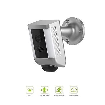 FREECAM Cámara de Foco Activada por Movimiento, Cámara de Seguridad Dos Vías Habla con Siren Alarma, Built-in Suspicious Intrusión Detección, L860 (White): ...
