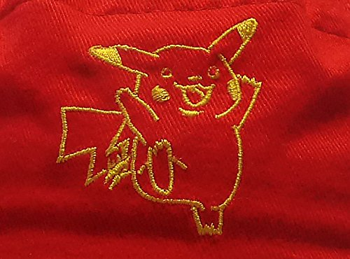 Original-Nintendo-Pokmon-Casquete-Gorra-Fischerhut-Nios-56-cm-100-Algodn-Pikachu-Bordado-Rojo