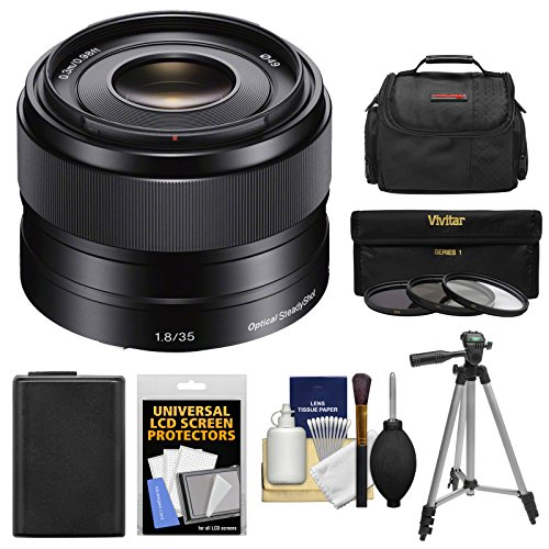 sony-alpha-e-mount-35mm-f-18-oss-lens-with-battery-case-3-filters-tripod-kit-for-a7-a7r-a7s-mark-ii-