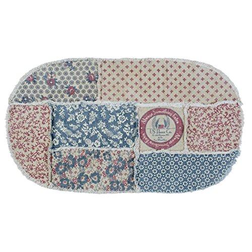 Patch Vintage Rug (VHC Brands Farmhouse Flooring - Millie White Patchwork Rug, 2'3