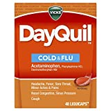 Vicks DayQuil Cold and Flu Multi-Symptom Relief, 48 LiquiCaps (Non-Drowsy) - Sore Throat, Fever, and Congestion Relief (Packaging May Vary)