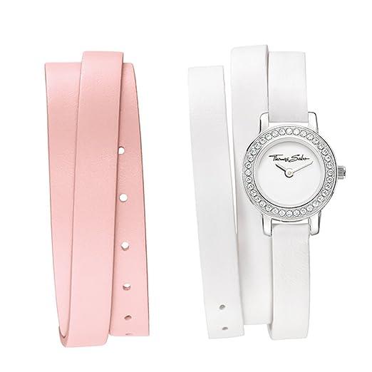 Thomas Sabo de mujer reloj de pulsera con un cambio de rosafarbenen pulsera wa0156 - 260 - 202 - 20: Amazon.es: Relojes