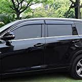 Vesul Updated Side Window Visor Rain Sun Deflectors Guard Vent Shade Smoke Gray Fits on Toyota Highlander 2014 2015 2016 2017 2018 2019