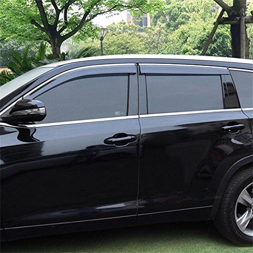 Vesul Updated Side Window Visor Rain Sun Deflectors Guard Vent Shade Fits on Toyota Highlander 2014 2015 2016 2017 2018 2019 from Vesul