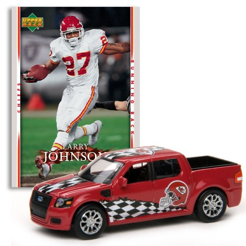 Kansas City Chiefs - Larry Johnson (Red Car) 2007 Upper Deck Collectibles NFL Ford SVT Adrenalin Concept with Card