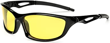 YELLOW Sunglasses Night Vision Driving Motorcycle Riding Cycling Sport Glasses