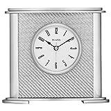 Bulova B5400 Hewitt Office Clock, Silver