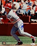 Pete Rose Autographed 8x10 Cincinnati Reds At Bat Photo with JSA Auth