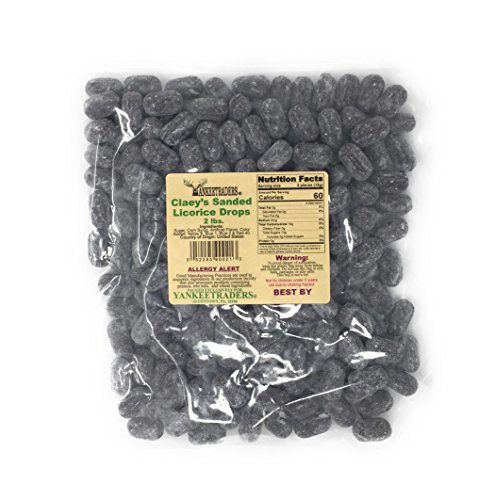 - Claeys Sanded Candy Drops, Licorice, 2 Pound