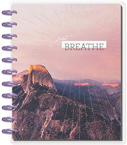 Create 365 ; Big Happy Planner ; Wellness ;'' Just Breathe'' Dated 18 Months (July 2019-December 2020) ; Vertical Layout ; Weekly & Monthly Page layouts ; Size: 11.5'' x 10.25 by Create 365 (Image #5)