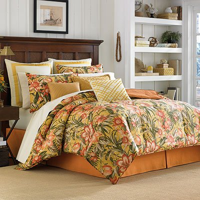Tommy Bahama Tropical Lily Lattice 16 Inch Pillow 16