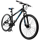 Murtisol Mountain Bike 27.5'' Hybrid Bicycle with 21 Speed and Suspension/Dual Disc Brake in 4 Colors,Blue/Grey/Yellow/White...