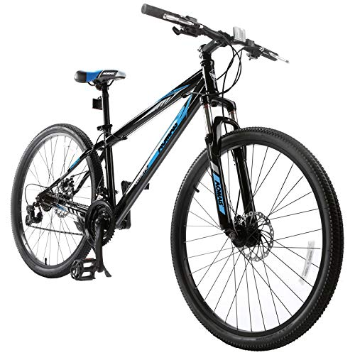 Murtisol Mountain Bike 27.5'' with Suspension/Dual Disc Brake,Hybrid Bicycle 21 Speed in 4 Color,Blue Black