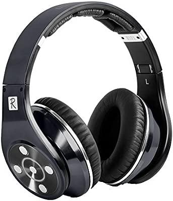 Bluedio R+ Leyenda (revolución) Auriculares Diadema Abiertos HiFi Cascos Bluetooth con NFC y Micro SD (Gris)