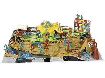 DQTOYS Set Figuras del Oeste con Accesorios 67 Piezas