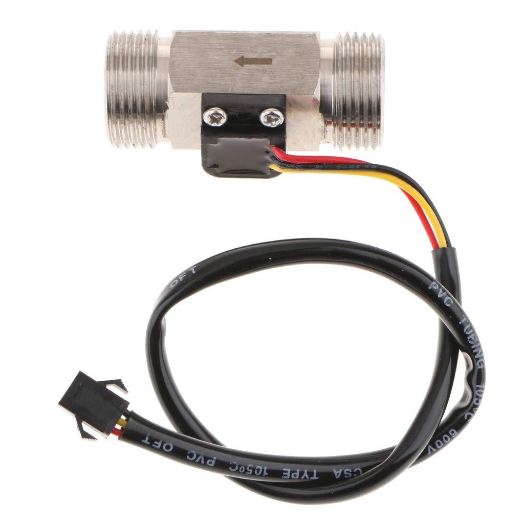 Flameer G3/4'' Hall Liquid Water Flow Sensor Switch Wired Flowmeter Meter Counter 2-45L/min
