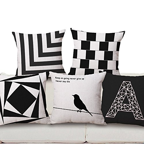 Geometric Cotton Linen Decorative Cushion Cover Square Pillow Case (45×45,  08): Amazon.co.uk: Kitchen U0026 Home Amazing Ideas