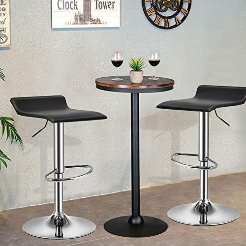Waterjoy Swivel Bar Chair,Set of 2 Rotatable Bar Stool