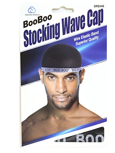 Boo Cap (Dream, Boo Boo STOCKING WAVE CAP, Wire Eastic Band (Item #045 Black))