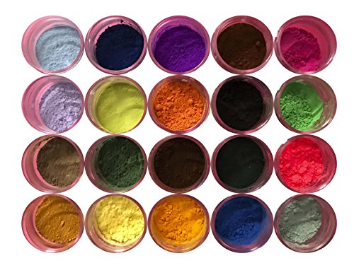 Oh! Sweet Art PETAL DUST MULTICOLOR SET OF 20, 4 grams each container Dust By Corp by Oh! Sweet Art (Image #3)