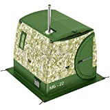Mobiba ポータブル2層モバイルサウナテント MB-22mm 全天候型フルハイトキャンプテントとしても使用可能