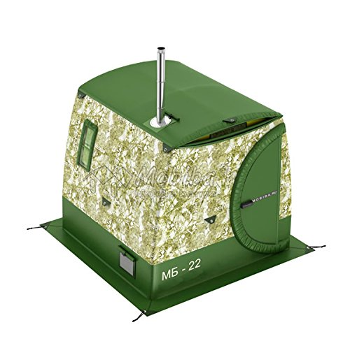Mobiba Portable Double-Layered Mobile Sauna Tent MB-22М, Also can be Used as an All-Weather Full Height Camping Tent