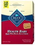 Blue Buffalo Dog Treats Health Bars Dog Biscuits With Bacon, Egg & Cheese 3Lbs