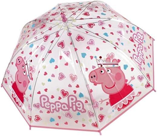 Peppa Princess Pvc School Rain Brolly Umbrella Brand New Gift