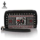 K A Cavans Zip Around Wallet Purse and Phone Clucth- RFID Blocking and Card Case Holder Handbags
