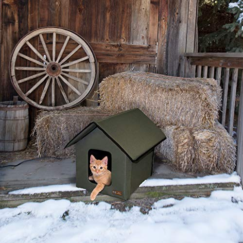 - K&H Pet Products Outdoor Kitty House, Unheated, Olive
