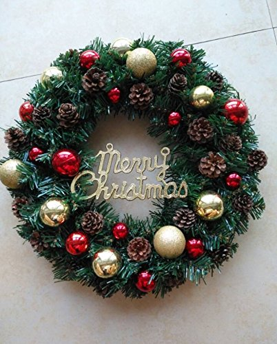 Christmas Garland for Stairs fireplaces Christmas Garland Decoration Xmas Festive Wreath Garland with Christmas wreath Wreath,50CM (a) by Caribou Furniture And Decor