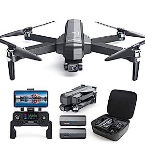 Flashandfocus.com 51sOJl-g1OL._SS300_ DEERC DE22 GPS Drone with 4K Camera 2-axis Gimbal, EIS Anti-Shake, 5G FPV Live Video Brushless Motor, Auto Return Home…