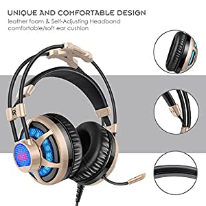 honstek g6 gaming headset pro pc vibration gaming. Black Bedroom Furniture Sets. Home Design Ideas