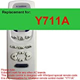 Replacement for Whirpool Air Conditioner Remote Control Model Number Y711A Works for