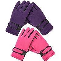 Kid's Boy Girl Fleece Winter Gloves Mittens Non Slip Riding Driving Hiking Ski Sports
