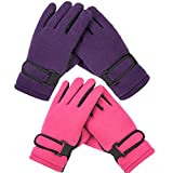 Kid's Boy Girl Fleece Winter Gloves Mittens Non slip Riding Driving Ski Sports