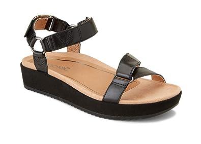 b9cf4d2bd Vionic Women's Tropic Kayan Backstrap Platform Sandal - Ladies Sandals  Concealed Orthotic Support Black 5 M