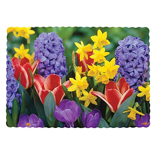 Royal Flower Design Placemats, 9.5 Inch x 13.5 Inch, Case of 1000