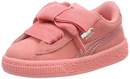 SNK Fille Sneakers Rose Basses Suede shell Shell Puma Heart Pink Inf Pink ETaq4Yw