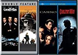4 Film Favorites: Crime Goodfellas / Casino / Carlito's Way & The Untouchables DVD Gang Bundle