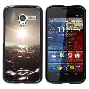 EJOY---Cubierta de la caja de protección la piel dura para el / Motorola Moto X 1 1st GEN I / --Océano Oscuro