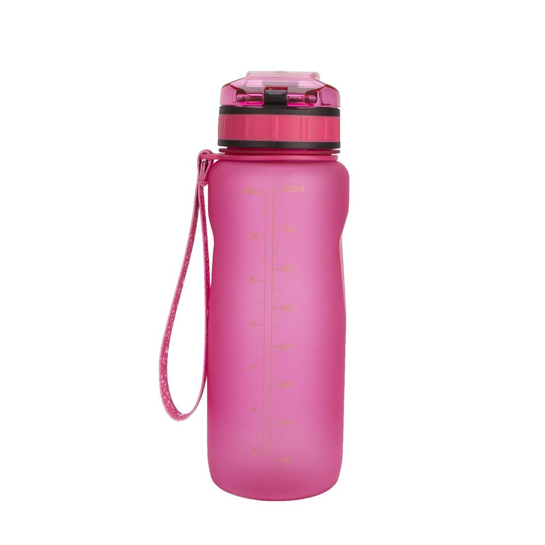 Chiffony Sports Water Bottle-27oz (800ML) Portable BPA-Free Plastic Lightweight Drinking Cup,Flip Top Lid,Eastman Tritan,Leak-Proof(Pink) by Chiffony (Image #1)