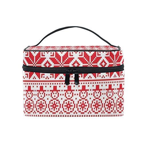 Cosmetic Bag Christmas Fawn Womens Makeup Organizer Girls Toiletry Case Box Lazy Zip Bag ()