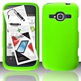 T-Mobile ZTE Concord II Case ZTE Z730 3 in 1 Bundle Rubberized Snap On Skin Cover Hard Case - Neon Green (Free Ultra-Sensitive Stylus Pen and Premium Screen Protector by BeautyCentral TM) by Generic